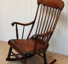 Rocking Chair Antique Styles Oversized Mission Style Antique Wood Rocker Fireside Traditional