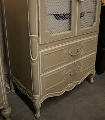French Provincial Armoire Reloved Rubbish Country Gray And Old White Armoire