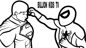 spiderman vs superman coloring book coloring pages kids fun art