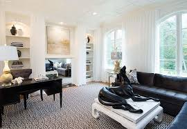 chic home interiors 30 black and white home offices that leave you spellbound