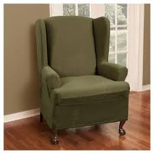 wing chair slipcover stretch reeves wing chair slipcover maytex target