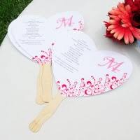Program Fan Wedding Programs Diy Wedding Bulletins Program Fans You Print