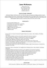 Resume Examples For Jobs With No Experience by Professional Dialysis Technician Templates To Showcase Your Talent