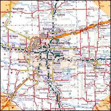 map of areas and surrounding areas oklahoma city metro and surrounding area
