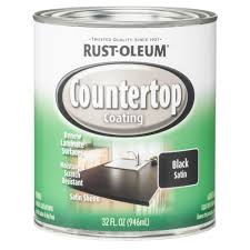 rust oleum specialty 1 qt black satin countertop interior paint