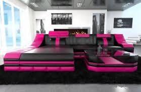 Luxury Leather Sofa Luxury Leather Sofa Turino L Shape With Led Light Corner