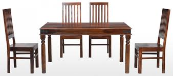 4 Chairs In Living Room by Jali Sheesham 120 Cm Thakat Dining Table And 4 Chairs Quercus Living