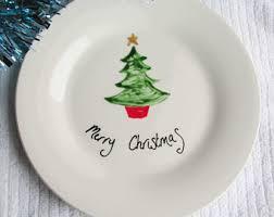 christmas plate christmas plate etsy