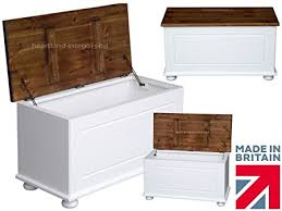 Solid Pine Ottoman Solid Pine Blanket Box 3ft Ottoman Trunk White Painted Waxed