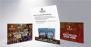 gift certificates warner bros studio tour