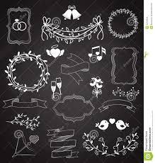 wedding chalkboard wedding chalkboard banners and ribbons set stock vector image
