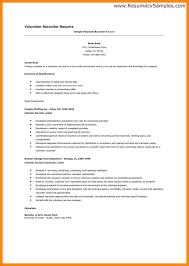 Resume Volunteer Experience Sample by 100 Volunteering Resume