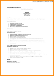 Experience On Resume Examples by Volunteer Resume Template
