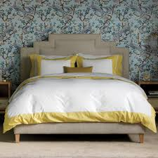 dwell studio modern border citrine duvet cover candelabra inc
