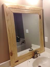 Wood Frames For Bathroom Mirrors - mesmerizing mirror frames diy 106 rustic wood frame mirror diy diy
