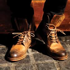 buy boots shoes j shoes andrew s brown leather suede brogue boots a9608