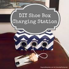 Diy Charging Stations Diy Shoe Box Tech Gadget Charging Station