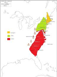 The Thirteen Colonies Map Regions Of The 13 Colonies Thinglink