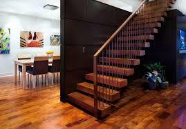 modern wood paneling side stair diy remodel modern wood paneling