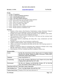 sample resume for oracle pl sql developer oracle forms and reports resume free resume example and writing sample resume for sql developer senior oracle sql developer los angeles resume praveen senior oracle