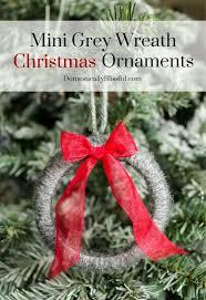 mini grey wreath christmas ornaments hometalk
