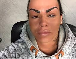 mandy lamrini bullied on facebook over tattooed eyebrows hits back