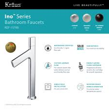kitchen faucet made in usa kraus ino vessel single handle bathroom faucet with custom
