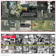 las vegas shooting 59 killed and more than 500 hurt near mandalay image a map shows the area of the shooting in las vegas
