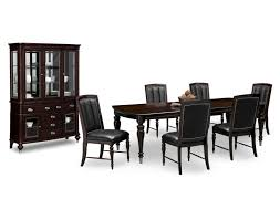 Black And Cherry Wood Dining Chairs Shop Dining Room Collections Value City Furniture