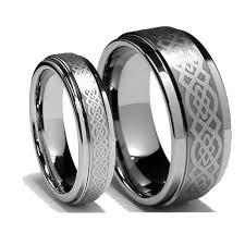 wedding titanium rings images Celtic knot titanium ring wedding couple ring weddingringmart 39 s blog jpg