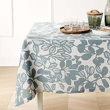 Black Linen Tablecloth Tablecloths Linen Cotton And Polyester Crate And Barrel
