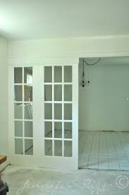 Door Room Divider - divide your space by using french doors as room dividers