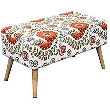 Vintage Storage Ottoman Amazon Com Etoney Mid Century Modern Fabric Storage Ottoman