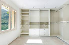 interior of a new empty house dressing room stock photo picture