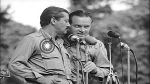 u s o bob hope troupe entertains u s soldiers on bougainville