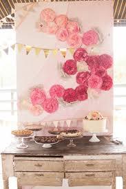 Dessert Table Backdrop by La Paloma Events Center Austin Wedding Paper Flowers Cake Table