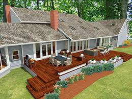 deck and patio designs ranch home deck patio design for the