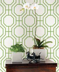 emerald green geometric wallpaper via a street prints symetrie