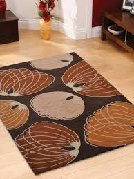Orange And Brown Area Rugs Buy Geometric Hand Tufted Woolen Brown Orange Area Rug K00668