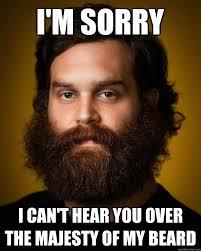 Meme Beard Guy - i m sorry i can t hear you over the majesty of my beard amazing