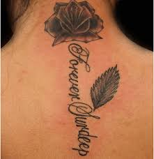 53 fantastic back rose neck tattoos