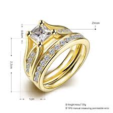 double gold rings images 2 pcs set zircon 316l stainless steel double rings for women gold jpg