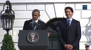 canadian thanksgiving jokes obama jokes about beer and hockey during trudeau u0027s welcome to