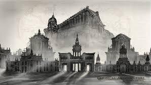 classical architecture sketch design unda ramumar