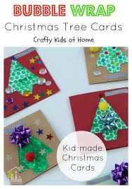 bubble wrap christmas tree cards crafty kids at home