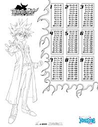 15 Multiplication Table Multiplication Table Beyblade Coloring Pages Hellokids Com