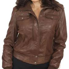 light brown leather jacket womens front pocket brown leather bomber jacket for women leather jackets usa