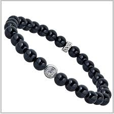 onyx bead bracelet images Men 39 s claddagh onyx bracelet beaded bracelet men 39 s claddagh jpg
