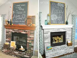 interior whitewash stone whitewashing brick fireplace paint