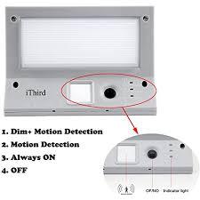 solar outdoor garage lights solar lights outdoor motion sensor ithird 21 led 330lm garage